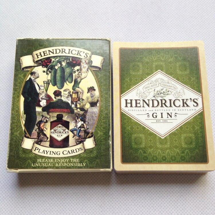 Classique Liene Finition Cartes À Jouer HENDRICK'S GIN Poker Cartes Noir Core Papier Cartes Divertissement Potable Jeu Poker