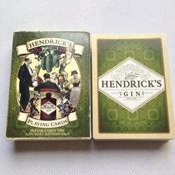 Klassische Liene Finish Spielkarten HENDRICK'S GIN Poker Karten Schwarz Core Papier Karten Unterhaltung Trinken Spiel Poker