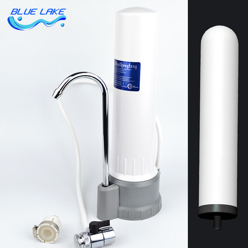 ABS shell, Faucet-mounted water purifier,descaling,easy to install,Super filter,Safe drinking water,Reusable Filter