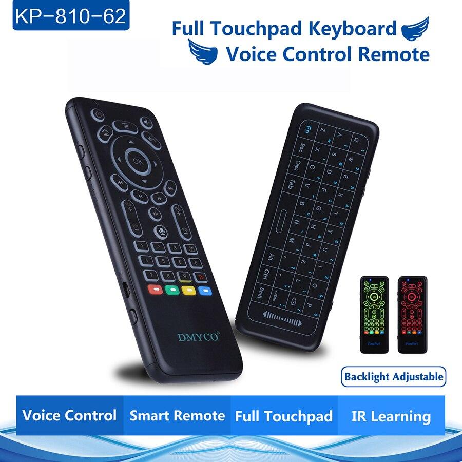 Mini 2,4G Wireless 7 Farbe Backlit Tastatur Russische Englisch Maus Smart Voice control Fernbedienung Für PC HTPC Smart TV android TV Box
