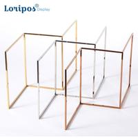 High End Stainless Steel Jewelry Rack Earring Hanging Frame Keychain Holder Key Chain Display Shelf Ring Storage Rack Stand