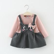 Melarie Girls Dress 2019 girl party dress Long sleeve round neck flower rabbit princess dress girl baby dress for 6M-24M