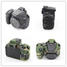 Мягкие Силиконовые Резиновые Защитные Камеры Защитный Чехол Кожа Случае для Nikon D5500 D5600 камеры сумка чехол