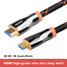 лучшая цена HDMI Cable High Speed 2.0 Version 3D 4K 60FPS cable for HD TV LCD PS3 Projector 2m 3m 5m 8m 10m 15m 20m Audio video HDMI cable