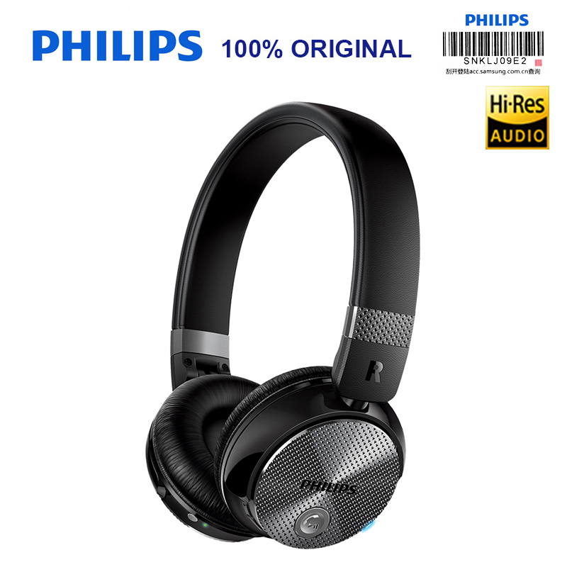 Philips Original SHB8850 Active Noise Cancelling Wireless Bluetooth Headphones NFC Headset with Microphone Official Verification e 3lue ebt922 nfc bluetooth headset black