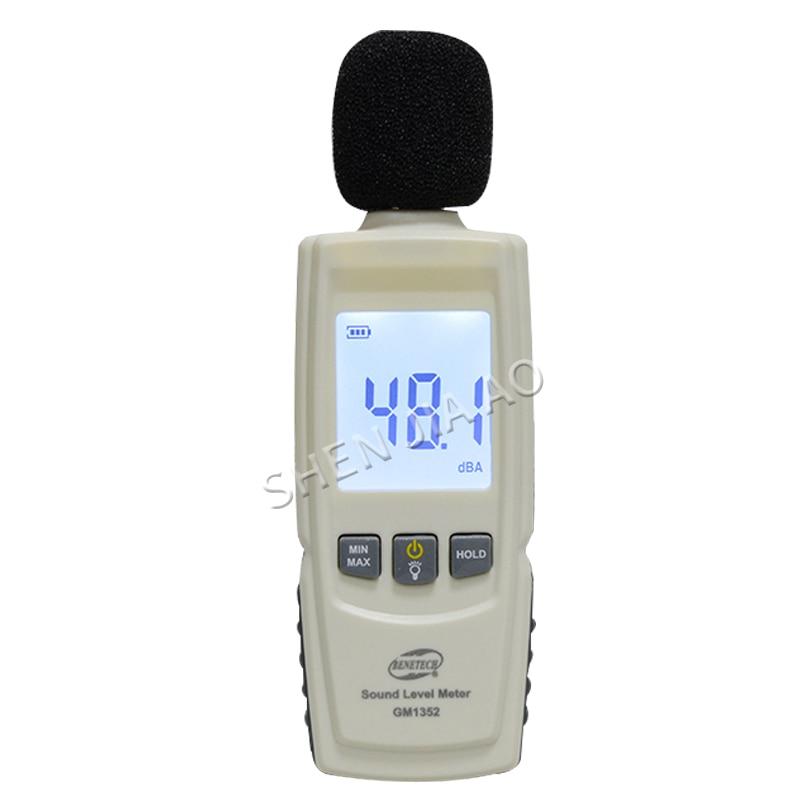 GM1352 Genuine Digital Noise Meter High Precision Decibel Meter Noise Test Detector Sound Level Meters     - title=