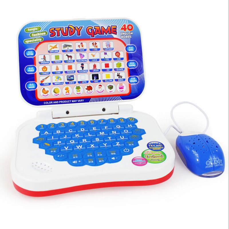 English and chinese Language Learning Machine Kid <font><b>Laptop</b></font> <font><b>Toy</b></font> Computer english Alphabet Pronunciation Educational <font><b>Toys</b></font> for Child image