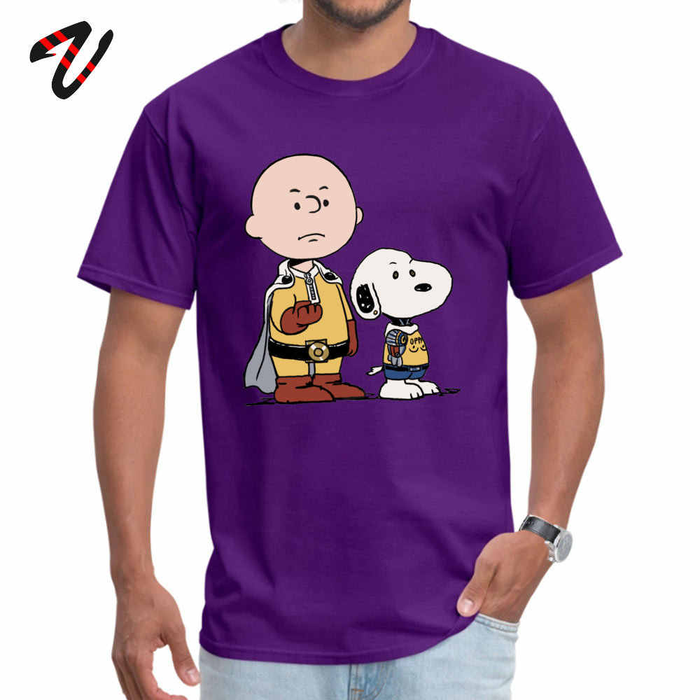 한 펀치 남자 티셔츠 애니메이션 남자 땅콩 탑스 티셔츠 일본 재미 있은 프린트 옷 고품질 100% Cotton Streetwear Custom Tshirt