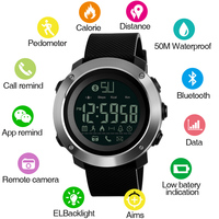 SKMEI Smart Sport Watch APP for APPLE IOS Android System Bluetooth Connect Wristwatch Waterproof Exercise Running Memory