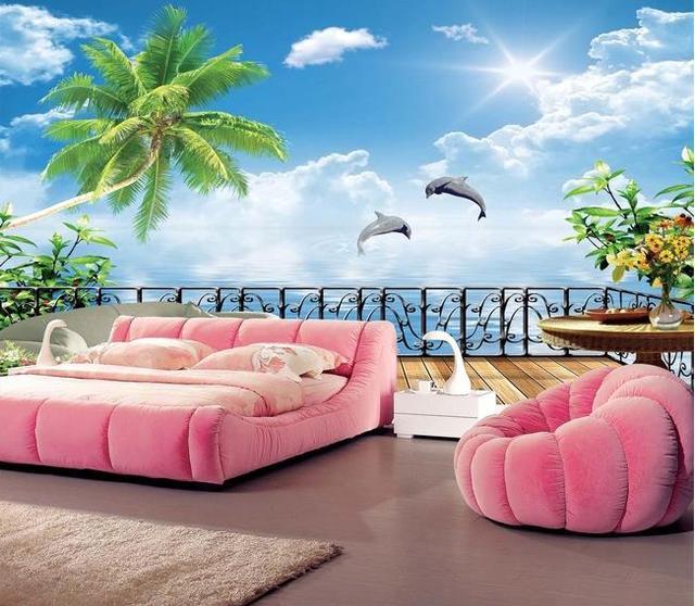 Personalizzato murale 3D Grecia Mar egeo wallpaper divano del ...