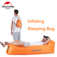 Inflatable Lounger Air Bag Inflatable Sleeping Bag Anti Air Leaking Design Ideal for backyard Lakeside Beach Traveling Camping