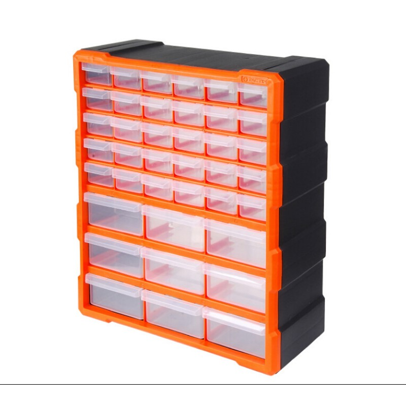 Tool Case Parts Box Classification Of Ark Multi-grid Drawer Type Building Blocks Case Screw Classification Component Box