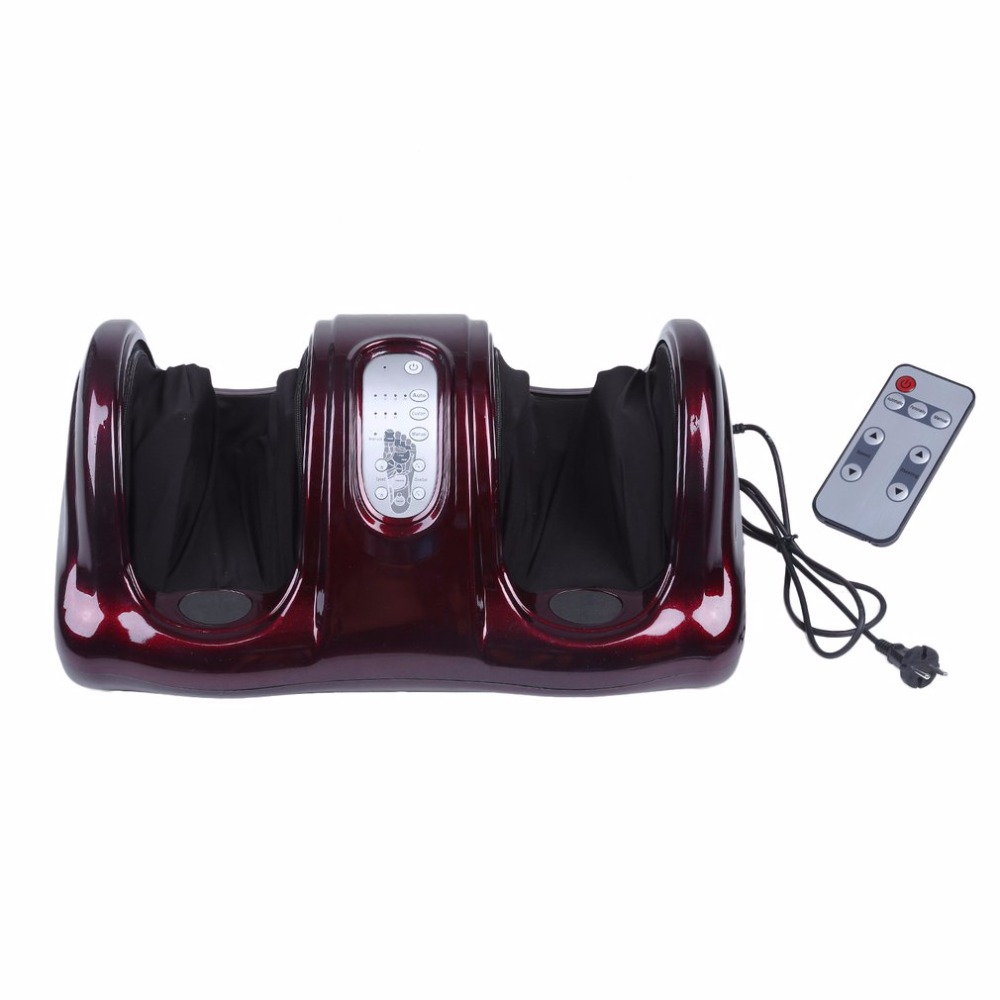 Electric Antistress Therapy Rollers Shiatsu Kneading Foot Legs Arms Massager Vibrator Foot Massage Machine Foot Care Device hot electric foot massager foot massage machine for health care personal air pressure shiatsu infrared feet massager with heat 50030