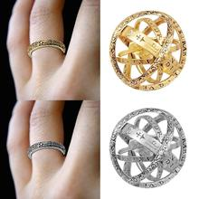 Creative Astronomical Ball Ring Complex Rotating Clamshell Astronomical Ring Universe Student Constellation Ring Jewelry 7 8 9 universe exploring the astronomical world