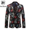 Fire Kirin New Arrival 2017 Men Blazers Print Blazer For Men Butterfly Pattern British Style Suit Brand Wedding Blazers Q203
