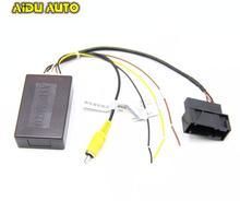RGB to AV CVBS Signal Converter Adapter Box For Original RGB Camera RCD330 rgb rns315 rns 510 rcd 510 box cvbs to rgb and av to rgb converter adapter for vw passat cc tiguan oem flip rear view camera