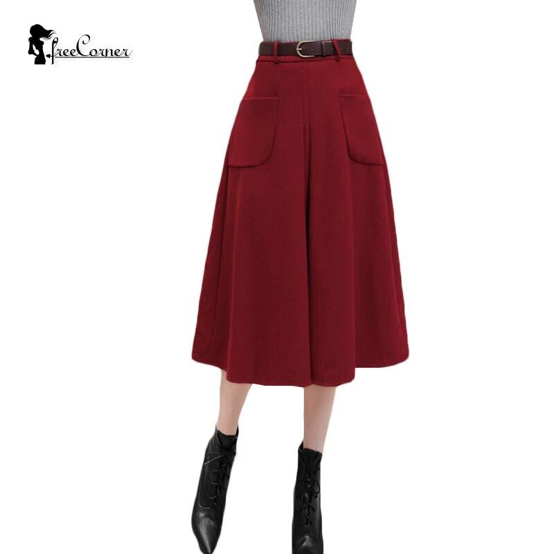 s skirt 2016 autumn winter fashion woolen
