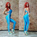 Black Womens Long Jumpsuit Woman Overall Summer Fashion Casual Sportswear Elastic Bandage Jumpsuits Rompers Fitness Wear