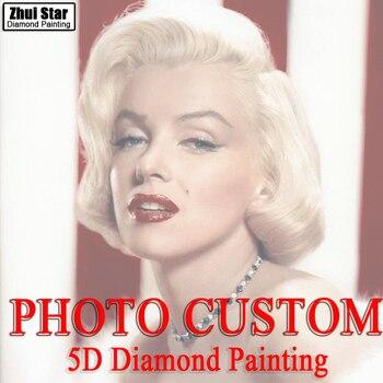 Bordado de diamantes DIY, personalización de foto, personalizado 5D privado, pintura de diamantes, punto de cruz, mosaico de diamantes 3D, decoración, navidad, regalos