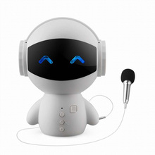 Robot style Bluetooth speaker with MIC support TF card HD stereo surround sound mobile power for phone English voice prompt цена и фото