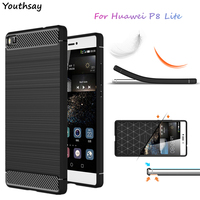 For Huawei P8 Lite Case Luxury Soft Silicone Phone Cover For Huawei Ascend P8 Lite Shockproof