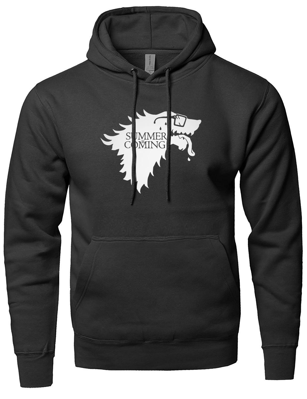SUMMER IS COMING Funny Letter Print Hoody For Men Sweatshirts 2019 Spring Winter Fleece Hoodie Men's Sportswear Harajuku Kpop