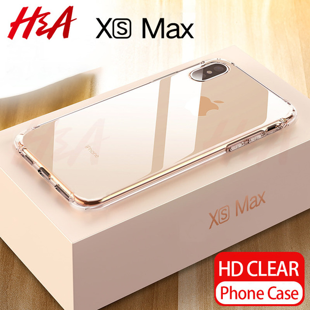 buy popular 1fd9c 18e0f US $2.78 7% OFF|H&A Ultra Thin Transparent Case For Apple iPhone X XS Max  XR Cases Clear Soft TPU Cover For iPhone XR XS Max Phone Case Capa-in  Fitted ...