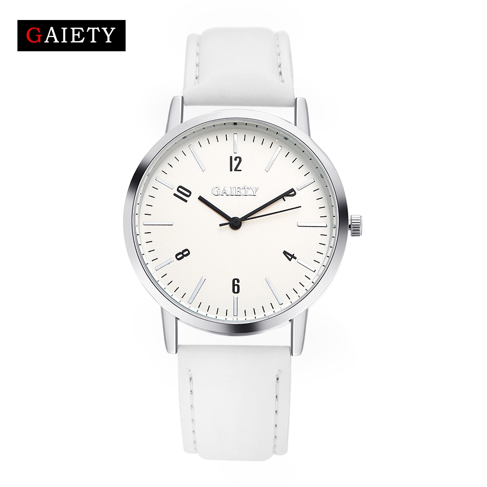 Top Brand Fashion Design Silver Dial PU Leather Quartz Watch Women High Quality Sports Women Casual Bracelet White Watch G012 смузи froome smoothies detox клубника банан