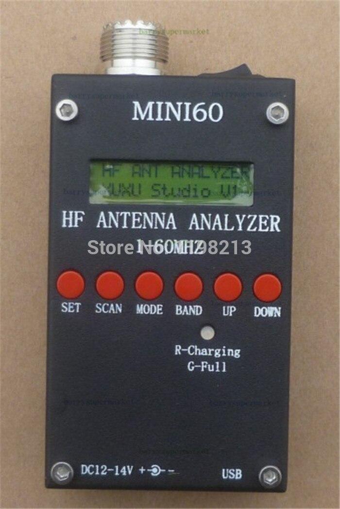New Mini HF ANT SWR Antenna Analyzer Tester Detector SARK100 For HAM Radio Hobbists 1-60Mhz