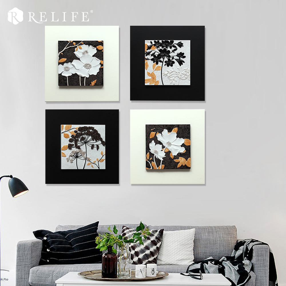 Top Selling Modular Decorative Flower Paintings for Living Room Home Decor Nordic Pictures