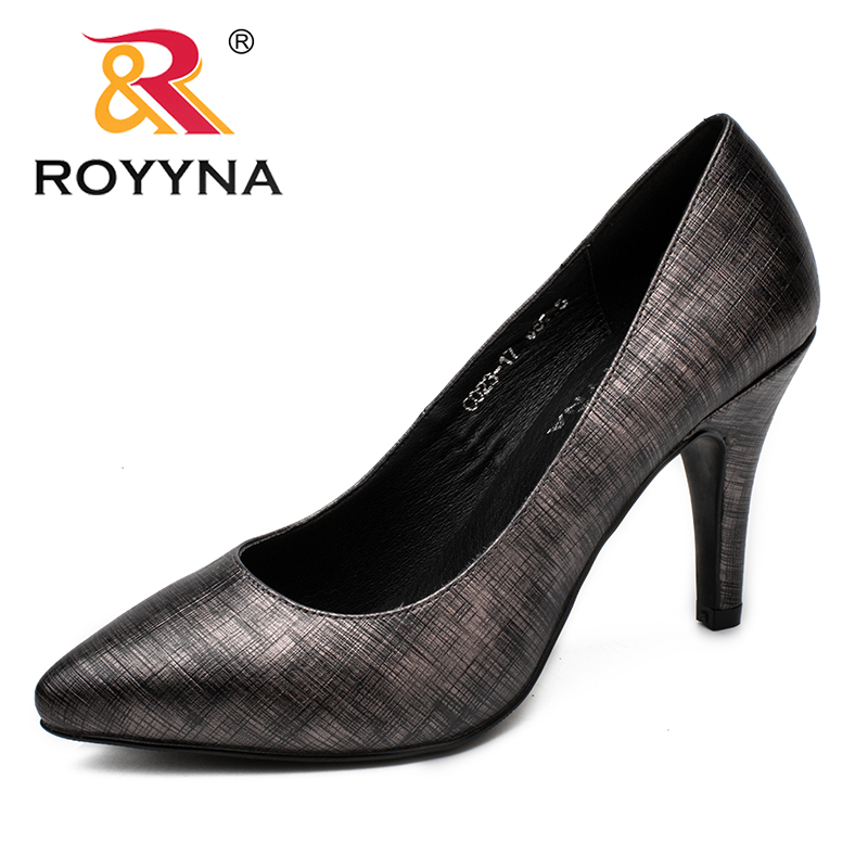 ROYYNA New Fashion Style Women Pumps Shallow Women Dress Shoes Pointed Toe Women Shoes High Heel Lady Wedding Shoes royyna new fashion style women pumps round toe women dress shoes high heels women office shoes slip on lady wedding shoes