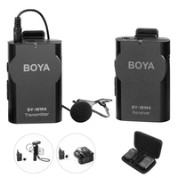 BOYA BY WM4 Wireless Lavalier Microphone System Lapel Lav Mic For IPhone 7 Plus HuaWei Samsung