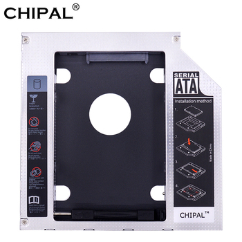 CHIPAL Universal SATA 3.0 2nd HDD Caddy 9.5mm for 2.5″ 2TB SSD Case Hard Drive Enclosure with LED for Laptop ODD CD-ROM DVD-ROM