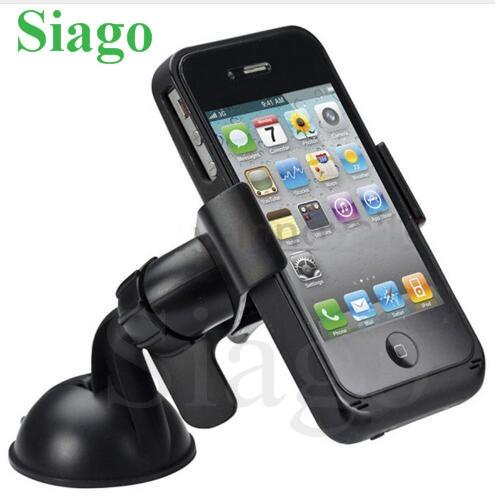 Siago fidget spinner Balck White Universal Car Windshield Mount Holder phone car holder For iPhone 5S 5 4S MP3 iPod GPS Samsung