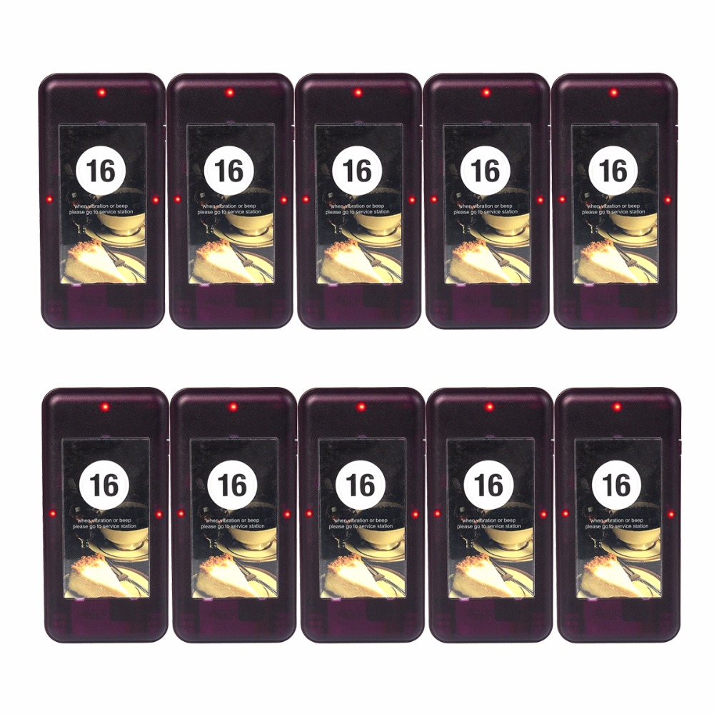 10pcs TIVDIO Restaurant Coaster Pager Receiver Call For 433MHz Wireless Paging Queuing System Waiter Calling System F4420A tivdio pager wireless calling system restaurant paging system 1 host display 10 table bells call button customer service f9405b