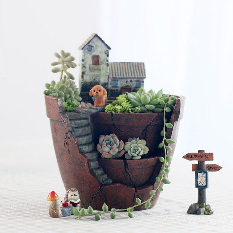 flower b font pot for succulent plants flowerpot micro landscape pot