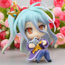 pvc model fantasy no game no life game life angel action figure 13cm doll model toy adult decoration statue limited edition No Game No Life Shiro Nendoroid 4'' PVC Action Figure New in Box