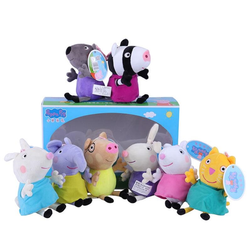 Peppa Pig George Family Friends 13cm Stuffed Animals & Plush Toys  For Kids Girls Baby Party Animal Plush Toys Gifts