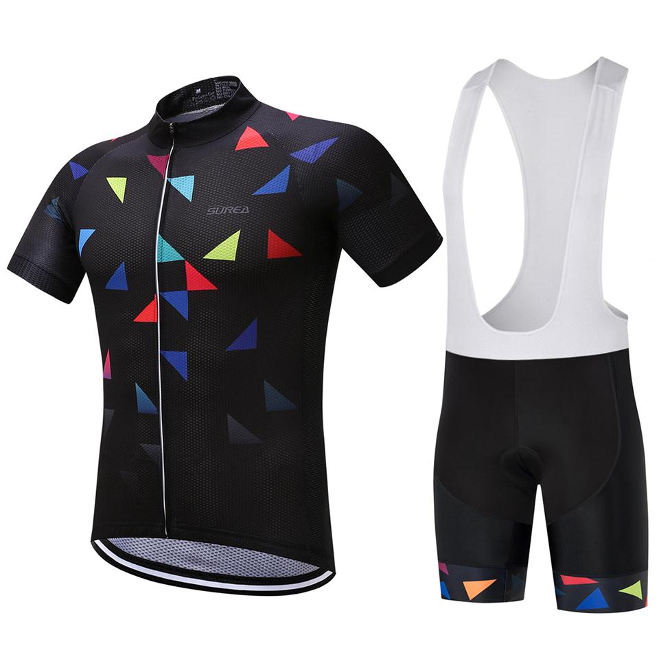 9D GEL PAD  2017 Cycling Jersey New design Cycle Bicycle Short Sleeve Cycling Clothing Bike Bib pants shorts Ropa Ciclismo