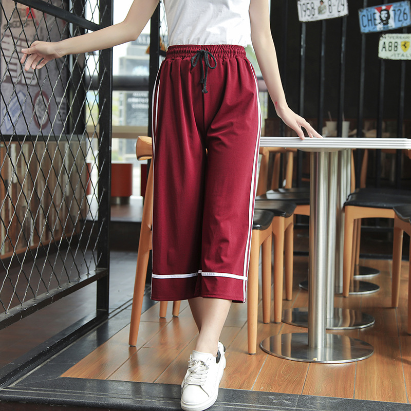 MISSMEOW   wide     leg     pants   casual   pants   women elastic High waist women   pants   silm summer women's   pants   big size trousers women