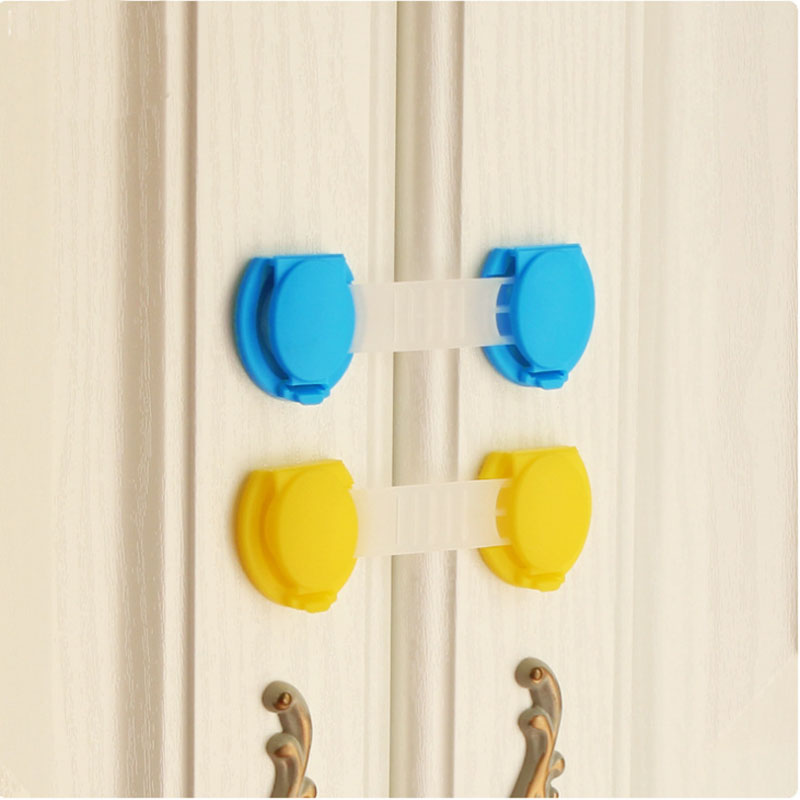 2pcs Lot Cabinet Lock Door Drawers Refrigerator Plastic Lock For Child Kids Baby Safety Cabinet Lock