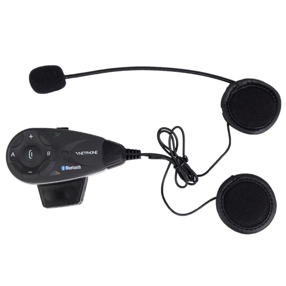 1200M Bluetooth Motorcycle Helmet Intercom BT Interphone Headset Motocicleta Intercomunicador Support GPS/ Phone For 5 Riders