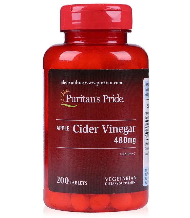 Free shipping Apple Cider Vinegar 480 mg 200 pcs