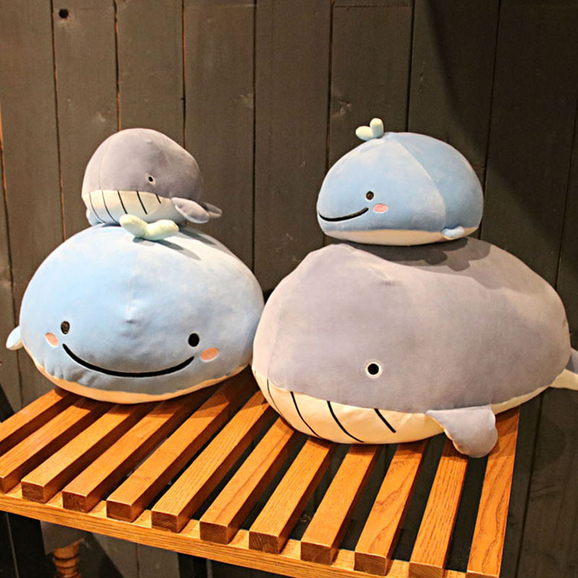 Cute Down Cotton Whale Plush Toy Super Soft Dolphin Pillow Stuffed Toys High Quality Aquatic Creatures Birthday Gift Anime