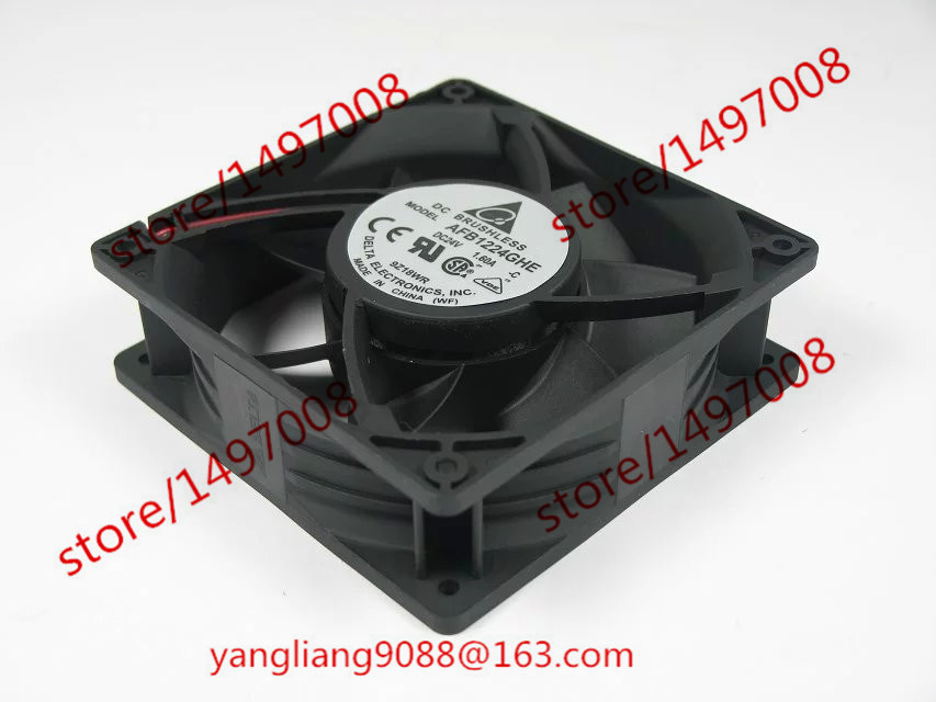 Delta AFB1224GHE DC 24V 1.60A   120X120X38mm Server Square  FanDelta AFB1224GHE DC 24V 1.60A   120X120X38mm Server Square  Fan
