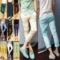 Бесплатная доставка Новый Бренд мужской Моды все матч Корейской волны мужчин хлопка случайные штаны 11 цвет