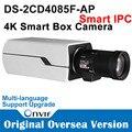 Pré-venda Câmera IP Hikvision POE IPC Inteligente 4 K DS-2CD4085F-AP 8MP 8MP 4 K Inteligente Câmera de Caixa Interior Câmera de vídeo Indoor