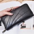 2016 Luxury Brand Women Wallet Sheepskin Women Wallet Long Patchwork Lambskin Ruched Wallet Woman Fashion Purse On Sales