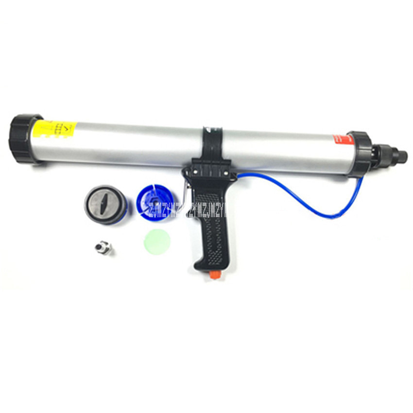 New Arrival 600ML Sausage Type Pneumatic Glue Gun For 600ml Sausage Sealant Use+9 Mouth+1 Push Film+1 Respiratory Piece+1 Piston