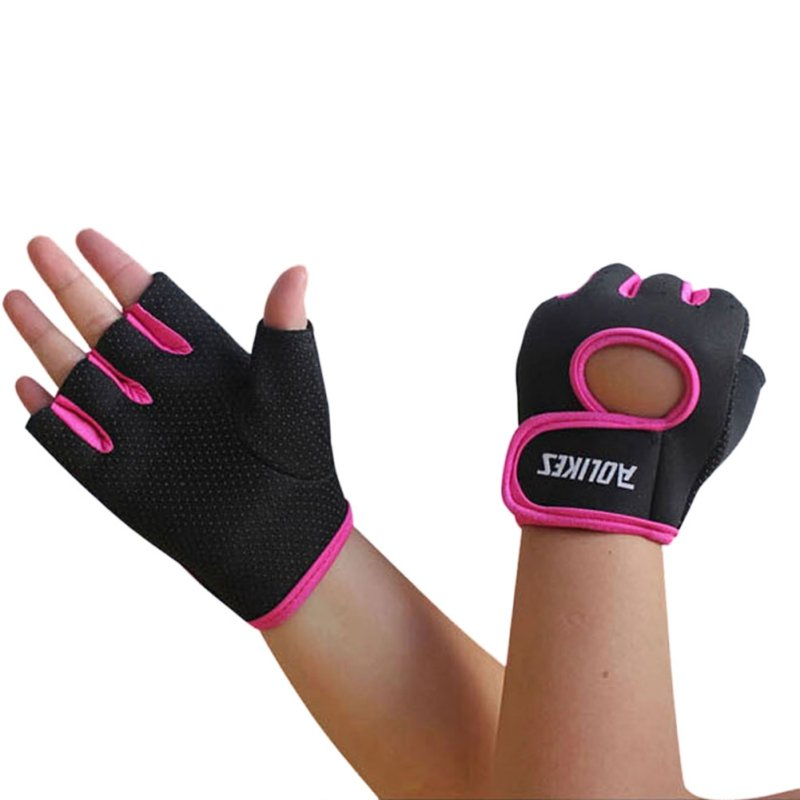 2020 New Multi-colors Women Men Fitness Exercise Workout Fitness Gym Sports Gloves Gym Training Hiking Gloves(China)